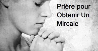 prière pour obtenir un miracle