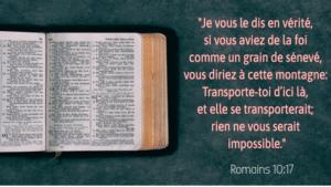verset biblique sur la foi